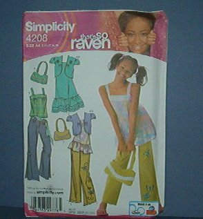 Simplicity Sewing  Pattern 4208 That's So Ravan outfit with purse Sizes 8 -16