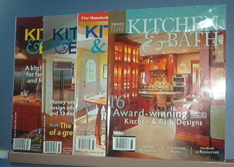 Magazine - 4 copies of Kitchen and Bath, 2005, 6 and 9.