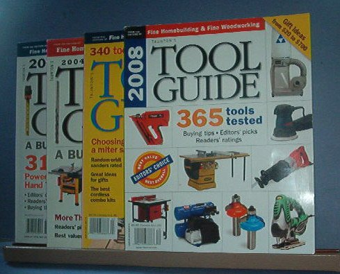 Magazine - 4 copies of Tool Guide by Taunton. 2004, 5, 7, and 8