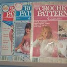 Crochet Pattern Magazine  - Crochet Patterns by Herrschners - Jan - October (4 Issues) 1990