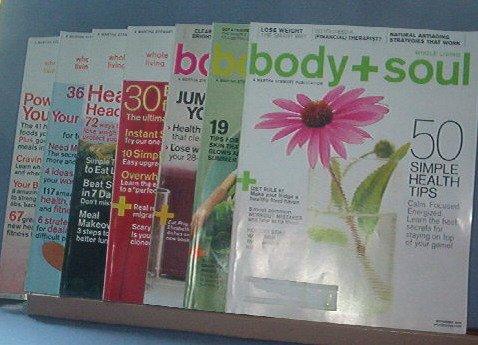 Magazine - body + soul, Feb & May 2010, Nov 2009, June, July/Aug, Sept & Nov. 2008