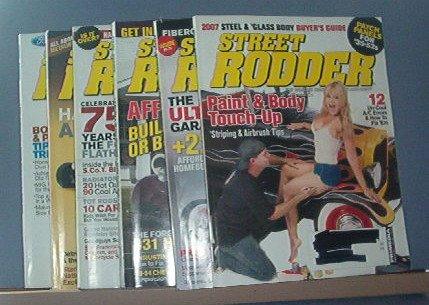 Magazine - Street Rodder  - Feb, Mar, May - Aug, 2007 6 issues