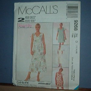 Sewing Pattern McCall's  9268 Pretty Summer Dress  Size 12, 14, 16