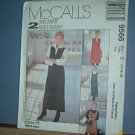 Sewing Pattern McCall's  9483 Misses Dress and Over Dress Siz 12, 14 16