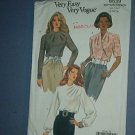 Sewing Pattern:  Vogue 8539 Three Blouses Size 12 14  16