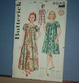 Sewing Pattern: Butterick 9946 MuuMuu Size 12