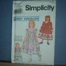 Simplicity Sewing  Pattern Child 7003 Pretty Dress Plus Doll Dress (18 inches) Size 3-6