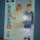 Sewing Pattern Butterick 4006 Pajamas for boys and girls Size 7 8 10
