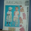 Sewing  Pattern McCall's 3270 Toddler's jumper, top, capri pants and hand Size 1-4