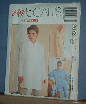 Sewing Pattern McCall's 2073 Shirt and pullon pants Size 16/18