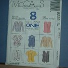 Sewing Pattern McCall's 8222 Top, Fitted, Jackets and Vests, Size 14-16-18