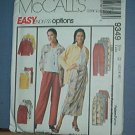 Sewing Pattern McCall's 9349 shirt, top, wrap skirt and pull on pants - Size 12 14 16