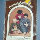 "Sewing Pattern Dream Spinners 119 Gingersnape Friends 30"" with clothes"