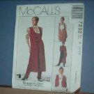 Sewing Pattern McCall's 7232 unlined vest in three lengths, 14, 16 & 18