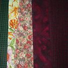 Sewing Fabric - Quilting Pieces - 6 each - checks, flowers & swirls