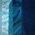 Sewing Fabric - Quilting Pieces -5 each - blue prints