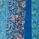 Sewing Fabric - Quilting Pieces  - 7 each - Blue prints and solids
