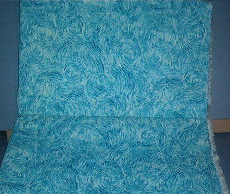 """Sewing Fabric Cotton Light Blue print 1-1/3 yards 44"""" wide No. 267"""