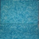 "Sewing Fabric Cotton Light Blue print 1-1/3 yards 44"" wide No. 267"