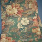 Sewing Fabric No. 278 Upholstery beige with huge flowers and green background