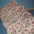 Sewing Fabric No. 292 Soft pink with roses and green stems...Pretty