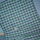 "Sewing Fabric Cotton No. 306 1"" plaid with green, white and navy"