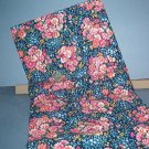 Sewing Fabric Cotton No 323 pink flowers on navy background