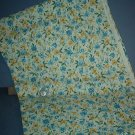 Sewing Fabric Cotton No 326 Yellow and Blue small flowers on white