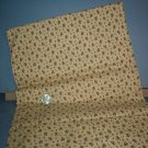 Sewing Fabric Cotton No 324 small roses on dark beige background