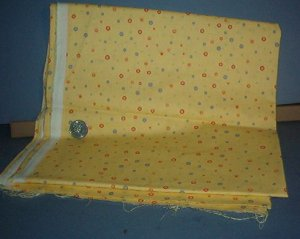 Sewing Fabric Cotton No 341 small dots on yellow background