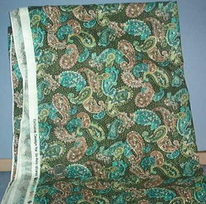 Sewing Fabric Cotton No 346 design on black