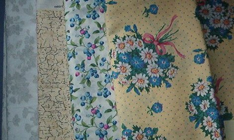 Sewing Fabric Cotton No 375 - 4 each - l yard quilting lengths