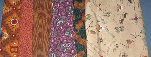 Sewing Fabric Cotton No 360  - 6 each - 30 inches to1 yard per piece