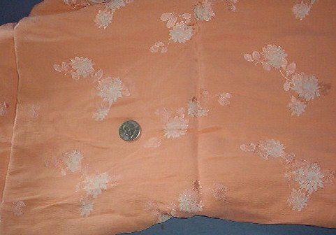 Sewing Fabric  No 352  - Lovely coral 2 sided synthetic - Beautiful!