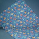 Sewing Fabric  No 357 - Blue with leaves heavy cotton