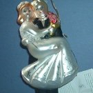 "Christmas decoration - Just Married ornament  - 6"" inches tall"