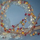 "Christmas decoration - Beaded strand of beige glass beads - 60"" long and 4"" wide.  Very Pretty"