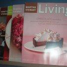 Magazine - Martha Stewart Living - Nos. 56.66,76.87 & 99 - 1998-2002 Valentines
