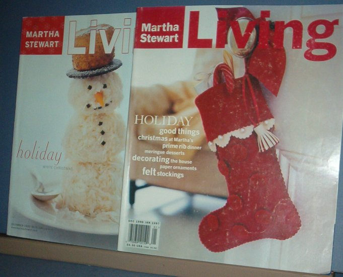 Magazine - Martha Stewart Living - Christmas - 85  & 45  December 2000 and 1997