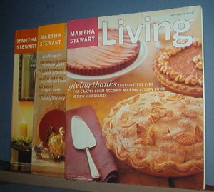 Magazine - Martha Stewart Living - Thanksgiving - Nos 108, 84 & 120, November 2000, 02, 03