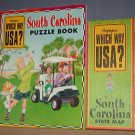 Highlights - which Way USA? - South Carolina Puzzle Book and Map - Excellent