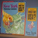 Highlights - Which Way USA? - New York Puzzle Book and Map - Excellent