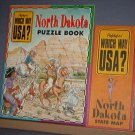 Highlights - Which Way USA? - North Dakota Puzzle Book and Map - Excellent