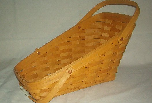 "Basket - Longaberger - Slanted Fruit & Vegetable - 12 X6X3 X9"" -  Excellent"