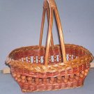 "Basket - Beaded Basket with strong handle - 12X11X4"" 12"" high.  Very Strong and Pretty"