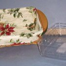 "Basket - small Holliday Helper - 8 X 5 X 2"" w/ liner & protector...Christmas ..Longaberger..Sweet"