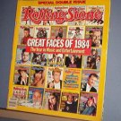 Magazine - The Rolling Stone - #437 and 438 Double Issue Great Faces of 1984