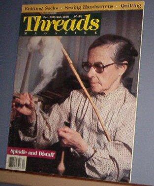 Magazine - THREADS - Dec 1985/Jan 1986 Spindle and Distaff