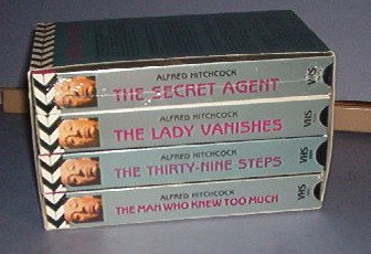 VHS - Alfred Hitchcock : Secret Agent (New); Lady Vanishes; 39 Steps; Man Who Knew too Much.