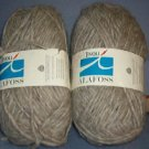 Yarn - 5 oz two skeens medium gray 100% wool - Great for socks !